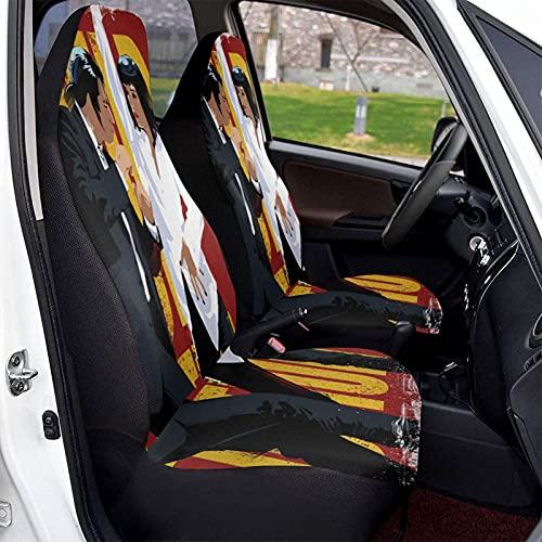 Funda protectora para asientos de coche de Pulp Fiction, suave, cómoda y elástica, adecuada para la mayoría de los coches familiares, 2 unidades