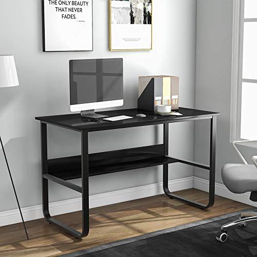 GYF Mesa Escritorio Mesa de Oficina Mesa de Ordenador Easy Assembly Computer Sky Estudio Multifuncional Ordenador Ordenador Portátil Mesa En Forma De U Tabla De Oficina para El Hogar Dormitorio