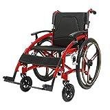 ZHONGXIN Silla de ruedas autopropulsada, Transporte Asiento ErgonóMico reposapiés y reposabrazos extraíbles, para personas con movilidad reducida