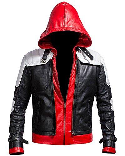 Batman Arkham Knight Red Hood Black & White Jacke Gr. S, Schwarz, Weiß und Rot