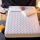 HNLHLY Sábana de algodón, Funda de Cama Acolchada de algodón, Funda de colchón Simmons, Antideslizante, Altura de Tela 40 cm -I_150cm × 200cm
