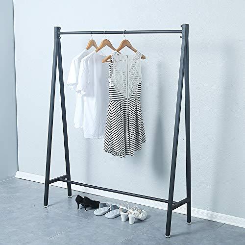 KINGVON - Tendedero de metal para colgar ropa, diseño urbano comercial, moderno de hierro resistente, estante portátil para...