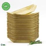 Platos Bambu Cuencos Desechables Bol de Madera Vajillas Naturales Alternativa al Plastico el Papel y...