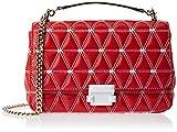 MICHAEL Michael Kors Sloan Logo Studded Large Chain Shoulder Bag, Bright Red