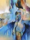 Arte mujer color﹣juegos de pintura por números﹣Kit de Pintura al óleo de Lienzo acrílico﹣manualidades para decoración de paredes del hogar﹣40x50cm﹣(Sin marco)