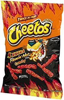 Cheetos XXTRA Flamin' Hot Crunchy Cheese Flavored Snacks 8.25 Oz. (1 Bag)