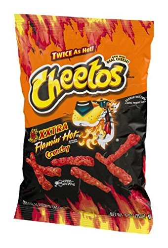 Cheetos XXTRA Flamin' Hot Crunchy Cheese Flavored Snacks 8.25 Oz. (1 Bag)