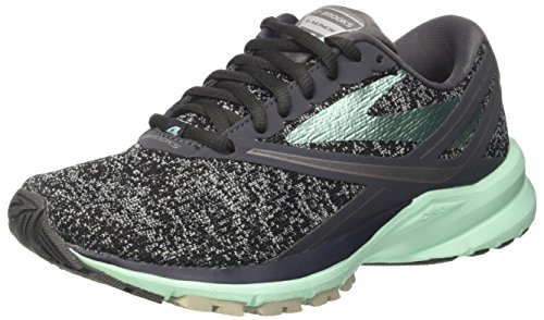 Brooks Womens Launch 4 Anthracite/Beach Glass/Silver 6 B US
