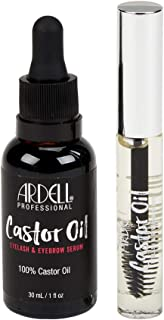 Ardell 100% Pure Castor Oil Eyelash Growth Enhancer & Brow Serum Kit, Hexane Free 1 Oz. Bottle, with FREE 0.33 Oz. Travel size