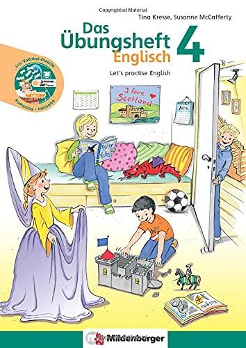 """Das Übungsheft Englisch 4: Let's practise English mit Audio-CD """"Jicki Vokabel-Dusche 4"""""""