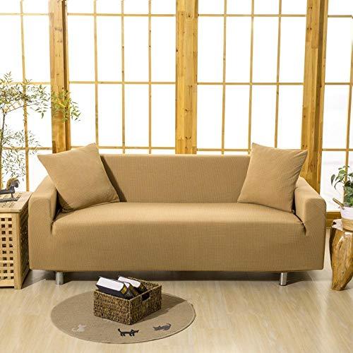 HXTSWGS Fundas de sofá de Grueso,Funda de sofá 1/2/3/4 Asiento, Funda Protectora de sofá de Color sólido, Funda de sofá elástica de Tela elástica-Color6_90-140cm