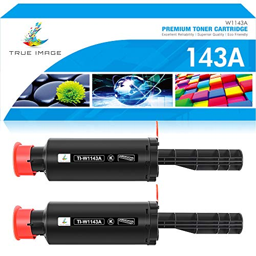 True Image Compatible Toner Reload Kit Replacement for HP 143A W1143A 143AD W1143AD for HP Neverstop Laser MFP 1202w 1001nw MFP 1202nw 1201 1001 1202 Toner Printer (Black, 2-Pack)