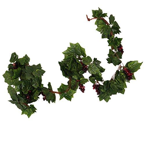 Sharplace 5 Pcs Pianta Finta Di Seta Cablata Vite Finto Frutta Rattan Con L'uva In Plastica