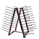 Creative Mark Art Drying Rack for Artist Painting Panels, Paper & Prints, Ladder Style Artwork Organizer, Mahogany Finish