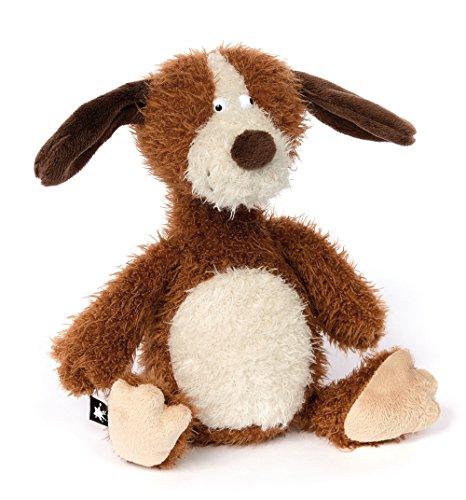 sigikid, Stofftier für Erwachsene und Kinder, Hund klein, AchGoood Family und Friends, Braun, 38723