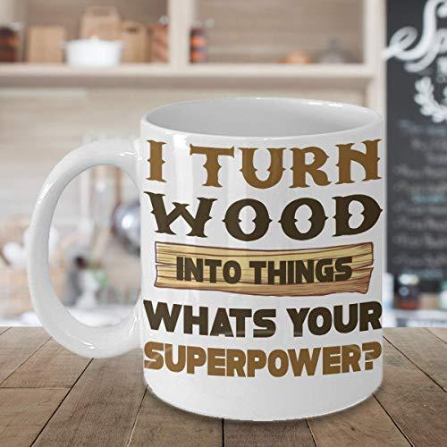 Geschenkidee für Holzarbeiter/Handwerker/Handwerker/Handwerker/Handwerker & Some One Into Basic Hand Holzbearbeitung/Holzbearbeitung/-Magazin/Werkzeuge/Ausrüstung, Weiß, 325 ml