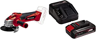 Einhell Cordless Angle Grinder TC-AG 18/115 Li-Solo Power X-Change - Supplied with 2.5Ah Battery and Charger Starter Kit