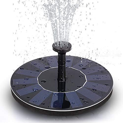TOMONOLO Solar Bird Bath Fountain Pump, Solar Fountain with 8 Nozzle Solar Powered Water Fountain Pump for Bird Bath, Garden, Pond, Pool, Outdoor