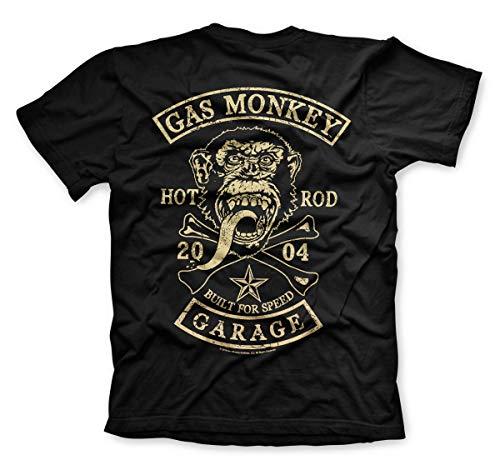 Gas Monkey Garage Shield T-shirt gris officiel Autoris/é
