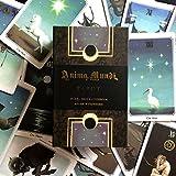 Tarjetas Tarot de 78pcs Anima Mundi, diseño de Oro Plateado, para el Juego de Mesa para Principiantes (Edición en inglés)