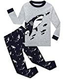 Boys Girls Christmas Pajamas Reindeer Cotton Toddler Clothes Kids Pjs Children Sleepwear Size 8 Gray