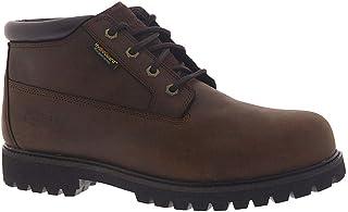 حذاء عمل Skechers للرجال من الجلد المقاوم للماء