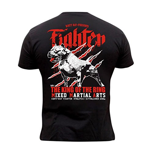 Dirty Ray Artes Marciales MMA Fighter Camiseta Hombre K74C (XL)