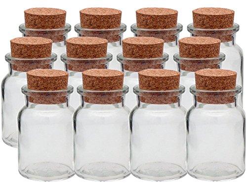 hocz Gewürzgläser Set mit Press-korken | 12 teilig | Füllmenge 150 ml | Rund Hochwertiges Glas | Glasdose Glasgefäß ideal für Salz Pfeffer Sonnenblumenkerne kürbiskerne Kandis Bonbons