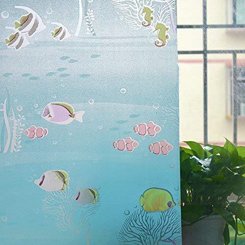Emmala Glazen melkglas, raamsticker, zelfklevend papier, ondoorzichtige zonwering, ramen, unicum, isolatieglas, film, 90 cm breed en 2 m lang abstracte kleur lijnen