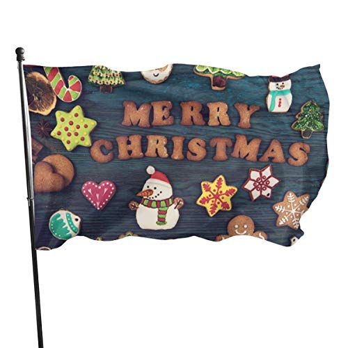 Cy-ril Weihnachtsplätzchen Fly Breeze 3X5 Fuß Polyester Flagge, Fade Resistant Durable Garden Flag