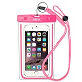 Waterproof EOTW cover for water-based activities or in inclement weather. For iPhone 6 / 6S Plus, Samsung S6 / S6 Edge / S5 / S4., Unisex adult, pink, Grande