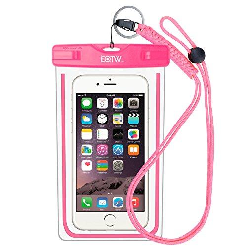 EOTW Funda Impermeable IPX8 Universal para Deportes acuaticos para iPhone XS MAX XR 8 7 6 Plus/BQ Aquaris/Huawei P30 P20 P10/Samsung S8 S7 y Otros Móviles hasta 7 Pulgadas.(Rosa)