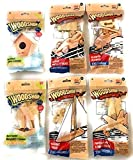 WOODSHOP Wood Craft Model Activity Kits - Helicopter, Fighter Plane, Sail Boat, Race Car, Bird House, Bird...