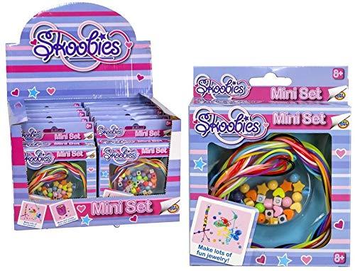 Ozbozz 1x Skoobies Mini Set 12x12cm Bastelset | Schmuck für Kinder | Armbänder selbst gestalten | Geschenk | Spielzeug | Kreativ-Set