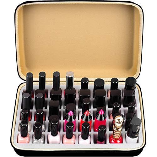 Organizador de esmalte de uñas para 40 botellas de esmalte de uñas, funda de almacenamiento compatible con mineral Fusion/Sally Hansen/ESSIE/OPI/Gellen/SINFUL COLORS y todos los demás esmaltes de uñas de gel (solo caja)