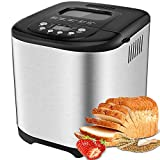 Aicok 2 LB Bread Maker, 15 Programs Bread Machine Including Gluten-Free Setting,...