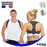 Saona Concept - Correcteur de posture - Redresse Dos - Soutien Dos - Maintien Épaules Avachies - Homme Et Femme - Idéal Pour...