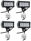 Cutequeen 4 X 36w 3600 Lumens Cree LED Spot Light for Off-road Rv Atv SUV Boat 4x4 Jeep Lamp Tractor Marine...