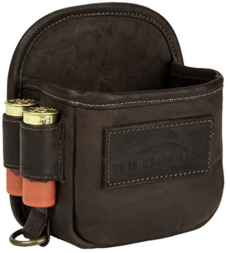 Wild Hare Shooting Gear Leather 1-Box Carrier Wild Hare Leather 1-Box Carrier - Dusk, Java, Small, Model: WH-515L-JV
