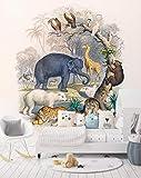 3D Animal World 231 Animal Wall Print Decal Wall Deco Mural de pared extraíble   Papel pintado grande autoadhesivo AJ UK Acmy (papel de fibra de vidrio), 219 x 312 cm (ancho x alto).