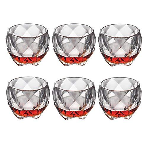 6 stokken Italiaanse stijl glas whisky beker water glas spirit glas bier glas glas glas glas sap beker