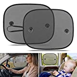 LEWONPO Car Window Shades for Baby, Universal Car Sun Shades for Side and Rear Window, Car Visor Side Window Sun Shade Cover Blocking Harmful UV Rays, Best for Baby, Kids and Pets Protection (2 Pack)