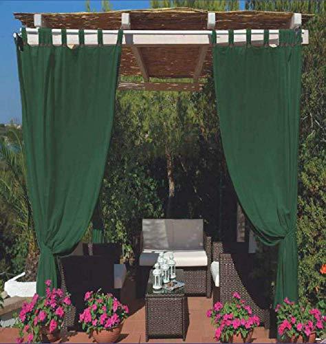 Megashopitalia Toldo para cenador, pérgola porche, impermeable, antimoho, resinado, impermeable, 140 x 270 cm (verde)
