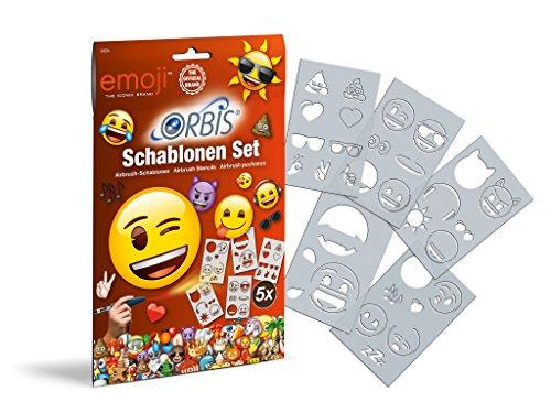 Revell 30224 EMOJI Schablonen Set aus strapazierfähiger Folie, abwaschbar Airbrush-Zubehör, für Kinder und Allen Anderen Kreativen, Mehrfarbig