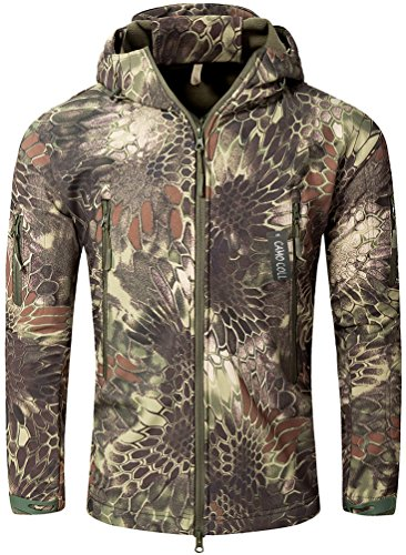 Camo Coll Men's Outerwear Camouflage Hoodie Military Jacket (Typhon, S)