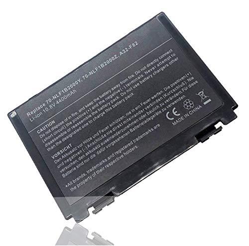 PowerZJS Batteria di ricambio A32-F82 A32-F52 per Asus K40 K40e K40ij K50 K50AB K50C K50i K50IJ K51 K51AC K70 K70IJ K70IO X5DAB X5DAD X5DC K61 [10,8V 4400mAh]