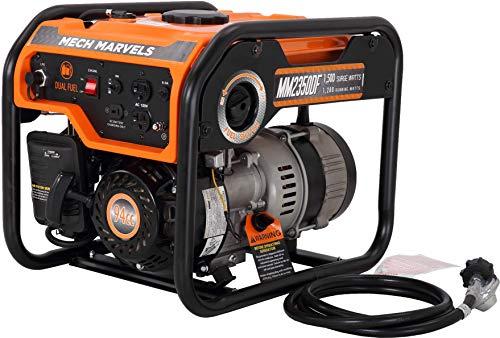 Mech Marvels 1500 Watt Portable Power Dual Fuel Generator
