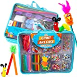 Riesiges Bastelkoffer-Set mit mehr als 1.600 Teilen - Bastelzubehör für Kinder 6+ - DIY-Projekte Koffer gefüllt mit Bastelset, Perlen, Knöpfen, Scheren und Pfeifenreinigern von Art with Smile