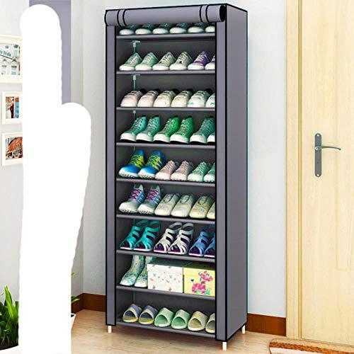 Estante de almacenamiento de zapatos de tela no tejida a prueba de polvo pasillo ahorro de espacio organizador de zapatos soporte zapatero para el hogar-16