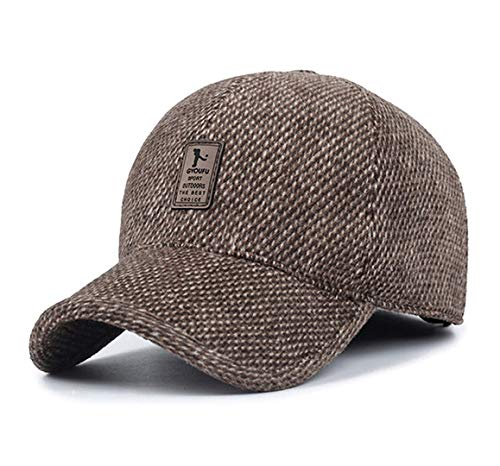 GYOUFU Cappelli da Baseball da Uomo Cappelli Invernali (Marrone)